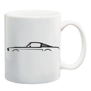 1st-generazione-Ford-Mustang-Silhouette-11-OZ-Tazza-da-caffe-1965-1966-AUTO-RACING