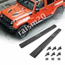 "4/"" Black Oval 2007-2018 Jeep Wrangler 2DR Side Step Bars Nerf Running Boards 2PC"