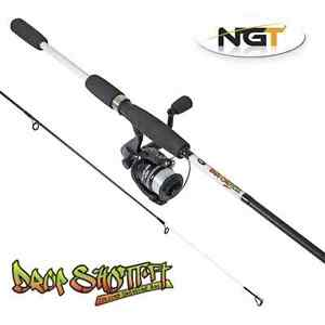 ngt 7ft 2pc carbon drop shot fishing rod and reel + line set up, Fishing Reels