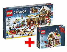 LEGO Creator *Noël*10245 Santa's Workshop+40139 Gingerbread house maison épice