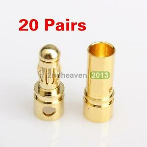 New-40-Pcs-3-5mm-Gold-plated-Bullet-Banana-Plug-Connector-RC-Battery