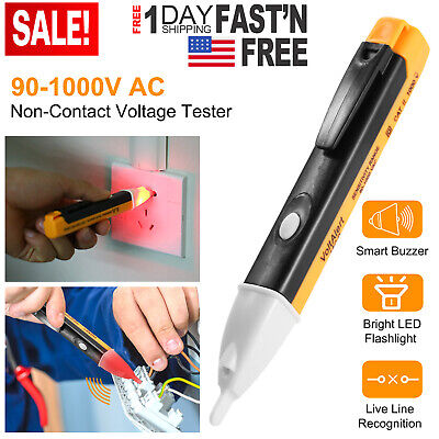 Electric Non Contact Voltage Tester Pen Ac Volt Alert Detector Sensor 90 1000v Ebay