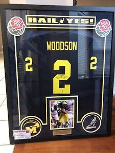 the latest bd9e1 6e5f9 Details about Framed Charles Woodson Signed Michigan Wolverines Autographed  Jersey