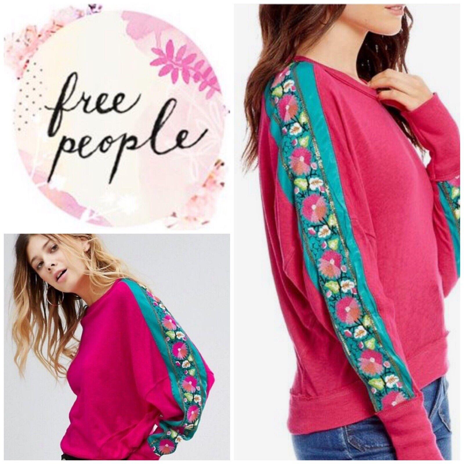 Free People Wallflower Top Pink Size Small New