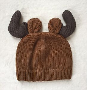 c486ddb41d3a8 Details about Baby Gap Reindeer Hat Unisex 6-12 Months New With Tags
