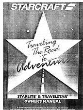 2003 Starlite /Travelstar Camping Popup Trailer Owners Manual