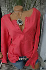 Sheego blouse tunique gr. 40 - 58 CORAIL TON NEUF (607)