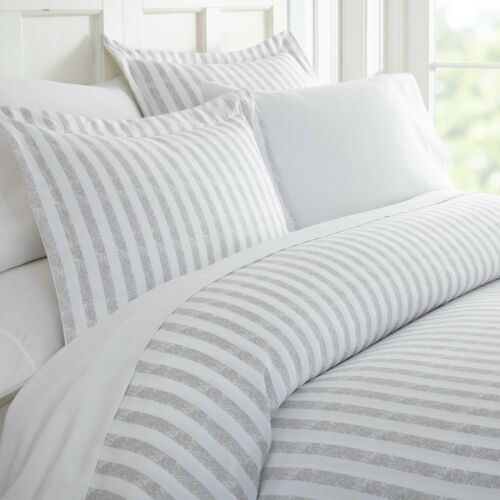 Hotel Collection Premium 3 Piece Puffed Rugged Stripes Duvet Cover Set