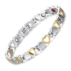 Titane-C-ur-Motif-Magnetique-Bracelet-Sante-pour-Femmes-Douleur-Soulage-Arthrite