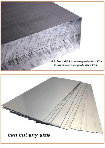 2pc 300x150x3mm ALUMINUM 6061 Flat Bar Flat Plate Sheet 3mm Thick Cut Mill Stock