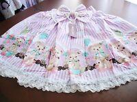 Bodyline Sweet Lolita Lavender Stripe Balloon Bears Skirt Size M