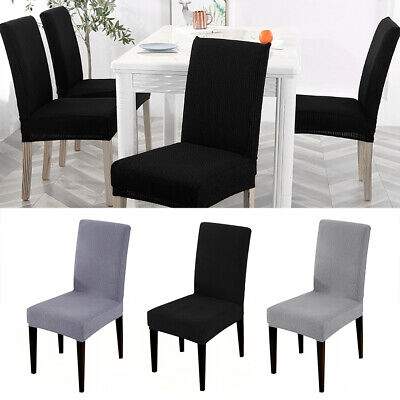 Dining Chair Covers Washable Knit Stretch Removable Chair Slipcovers High Back