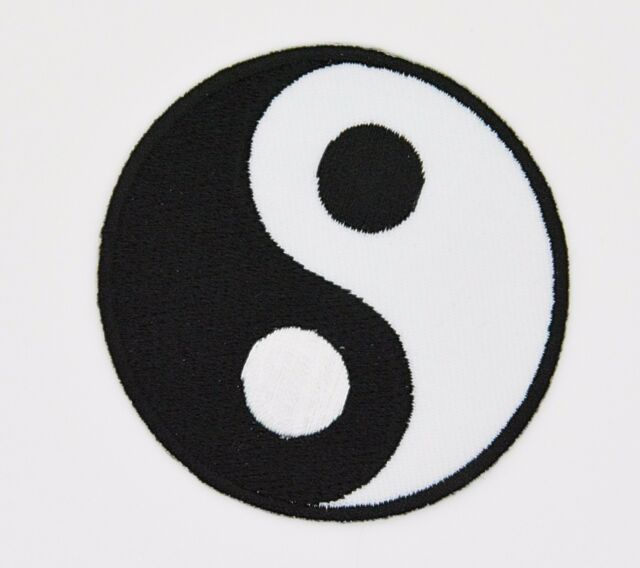 Yin Yang Embroidered Iron On Patch Karate Ying Tai Chi Martial Arts
