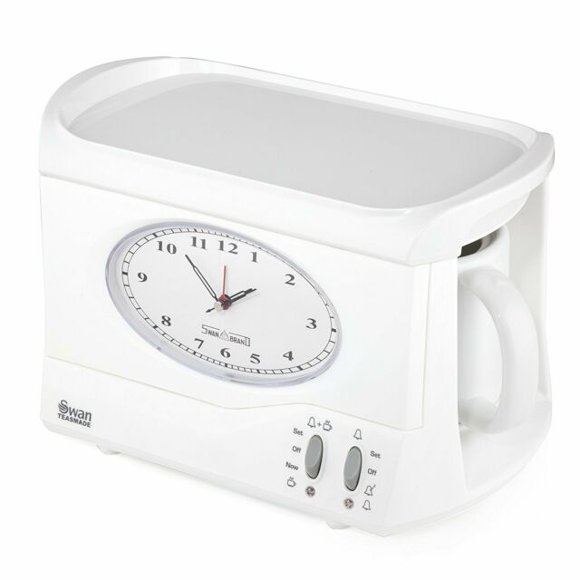 Swan Retro Vintage Teasmade Tea Made Teasmaid Maid Coffee Maker Alarm Clock  Ligh