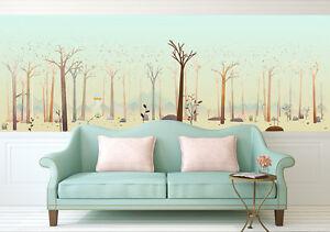 3d Hiver Tronc 33 Photo Papier Peint En Autocollant Murale Plafond
