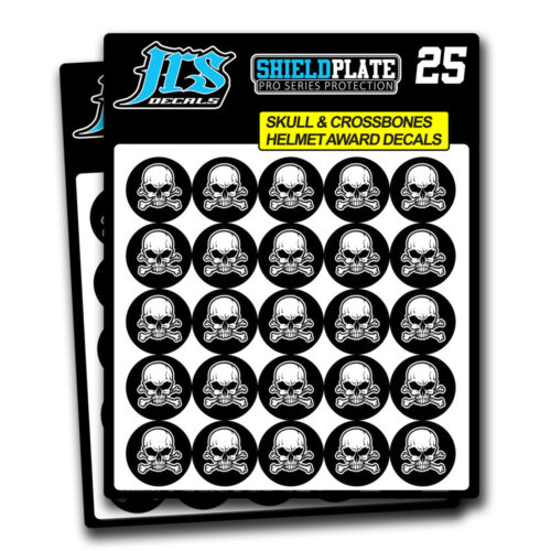 16 Mil Thick Skulls Helmet Award Stickers Football Helmet Decal Set of 50