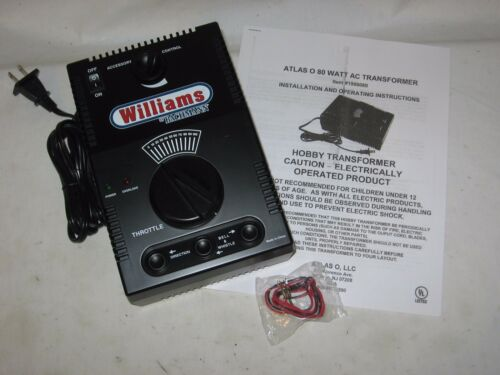 Atlas 80 Watt AC Transformer w// Whistle /& Bell buttons wks w// Lionel Williams