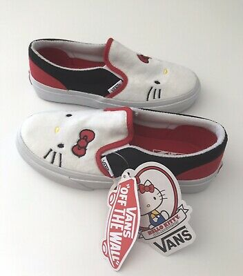 Vans Girls Hello Kitty 40th Anniversary Slip On Shoes Size US 1 New with Tags | eBay