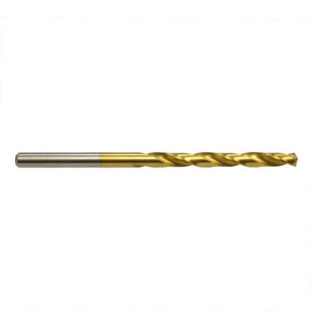 Jobber Drill Bit Metric 135 Split Point HSS Titanium Coated Twist Alpha