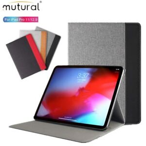 0f2ded01f3 mutural For iPad Pro 11 12.9 2018 Smart Sleep/Wake Flip Leather ...