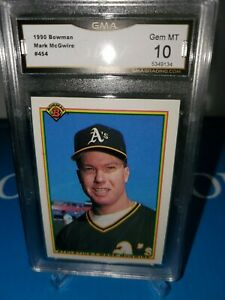 1990 Bowman #454 Mark McGwire ROOKIE GMA 10 GEM 💎 MINT! LONG GONE SUMMER 🔥⚾️🔥
