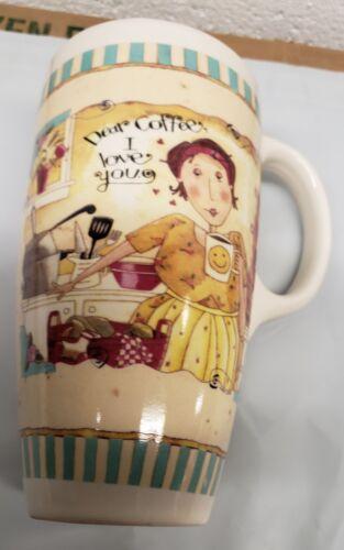 DEAR COFFEE LADY IN THE KITCHEN CERAMIC COFFEE // TEA MUG I LOVE YOU 18 oz