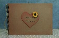 Rustic sunflower A4 Scrapbook Photo Album vintage wedding keepsake memory book