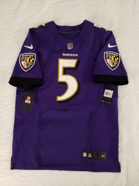 check out 14702 d2add Joe Flacco Baltimore Ravens Nike Purple Elite Authentic On-field Jersey 40