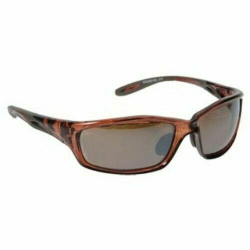 Crossfire Brown Safety Glasses Scratch-Resistant