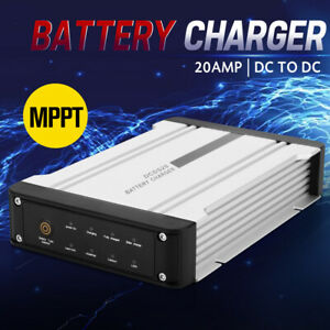 MOBI 20A DC to DC Battery Charger MPPT 12V Dual Battery System 4WD Lithium