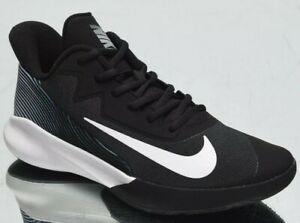 Nike-Precision-IV-4-Men-039-s-Black-White-Low-Basketball-Sneakers-Athletic-Shoes-12