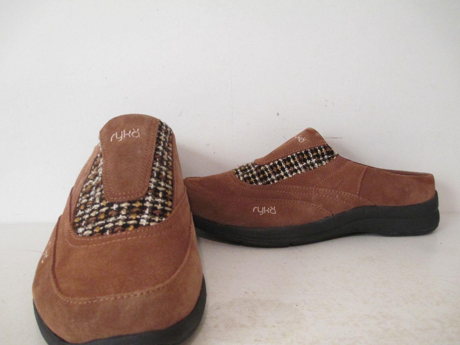 Ryka Womens Freelance Mule Slip On Wool Tweed Lo Casual Toffee Size 5 - 12 M W