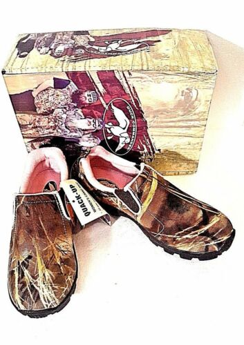 DUCK COMMANDER WOMEN/'S PINK CAMO PULL ON MOCCASIN SHOE REALTREE MAX 4 Reg 59.99