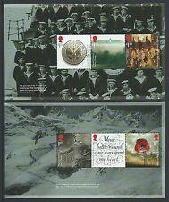 GREAT BRITAIN 2016 THE GREAT WAR 1916 2 PANES PRESTIGE BOOK FINE USED