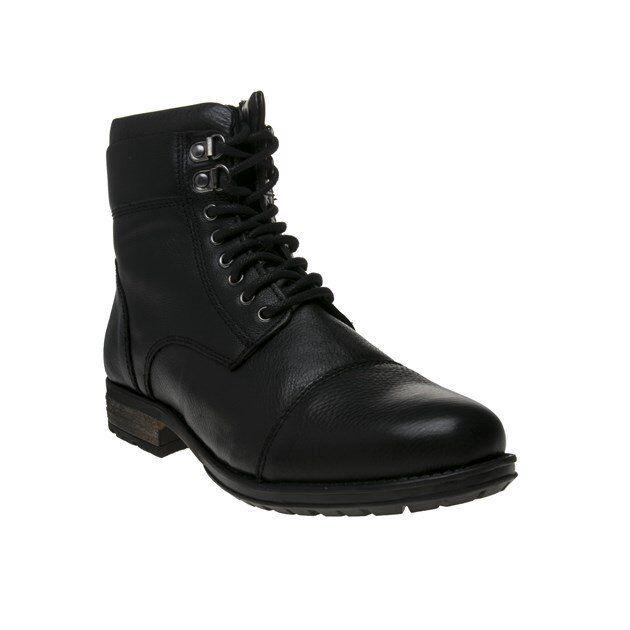 6e75b454 Nuevas botas para hombre Cuero Negro huelga con Cordones Cremallera  Exclusivo nskejx2028-Botas