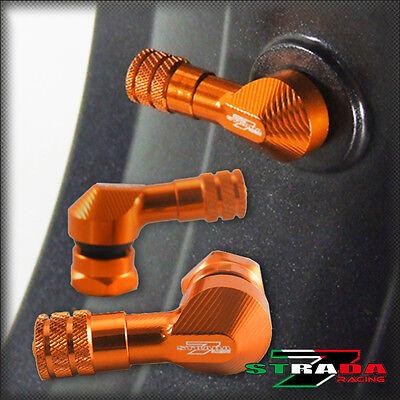 """Strada 7 83 Degree 8.3mm 0.357"""" CNC Valve Stems KTM 1290 Super Duke R Orange"""