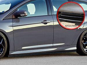 CUP-Seitenschweller-Schweller-ABS-fuer-Ford-Focus-ST-Turnier-DYB-schwarz-glaenzend