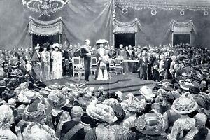 Eroeffnung-Weltausstellung-Bruessel-XXL-Kunstdruck-1910-Koenig-Albert-von-Belgien