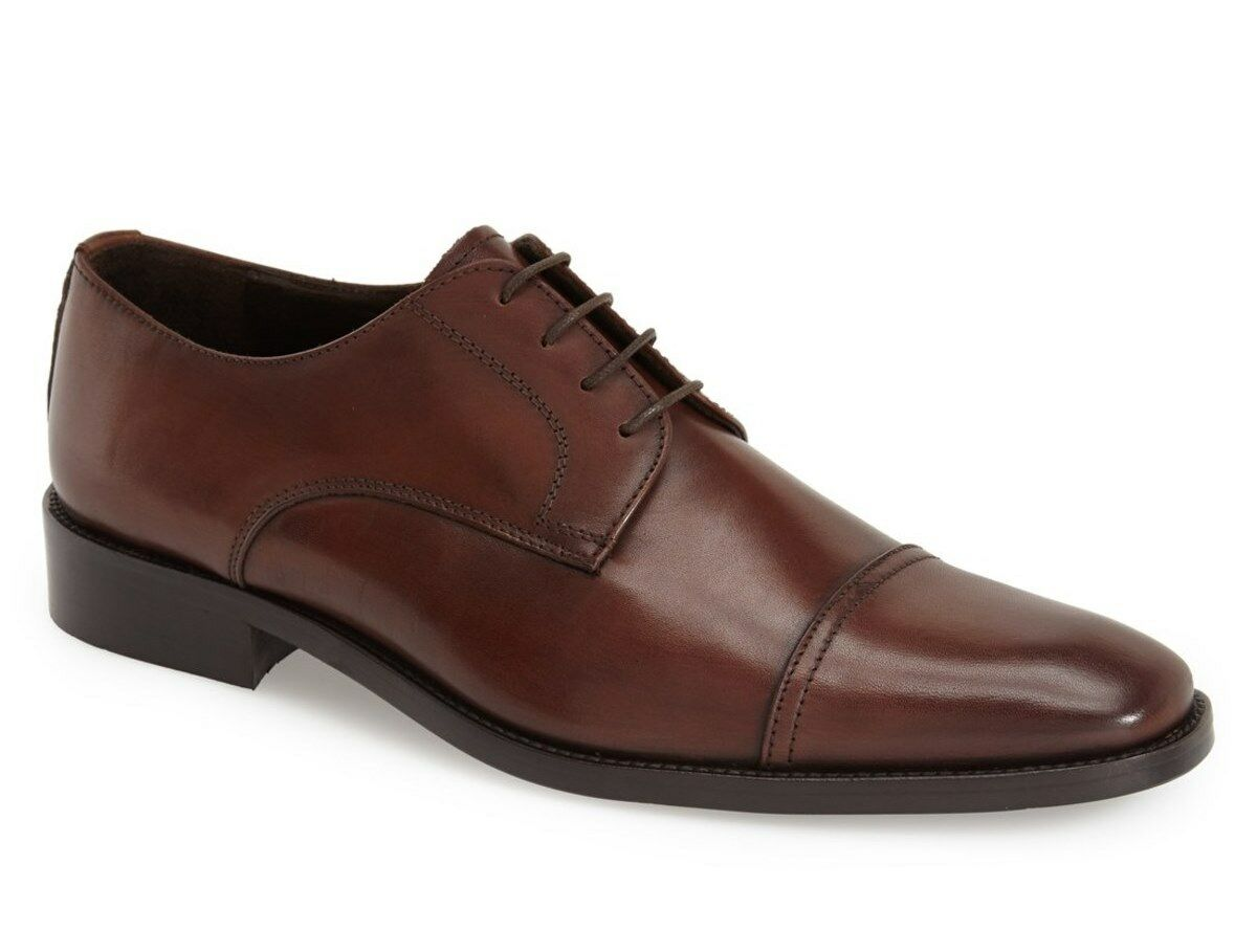 NIB To Boot New York Maxwell Cap Toe Derby Leather shoes, brown sz 10.5M -  325