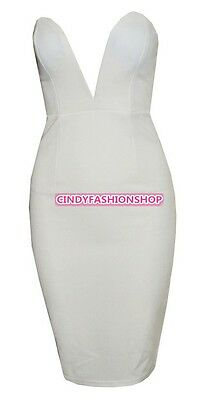 NEW Women Sexy Bodycon Bandage Wrapped Tight Waist Exposed party dress 4 Size