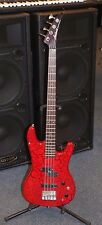 Aria Pro II XRB Series 4 String Electric Bass Guitar (Red) Pre-owned