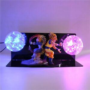 RARE Dragon Ball Z VEGETA /& GOKU Power Up Led Light Lamp Action Figure Whole Set