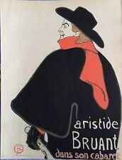 Henri de TOULOUSE-LAUTREC - Aristide Bruand - Lithographie signée #1927