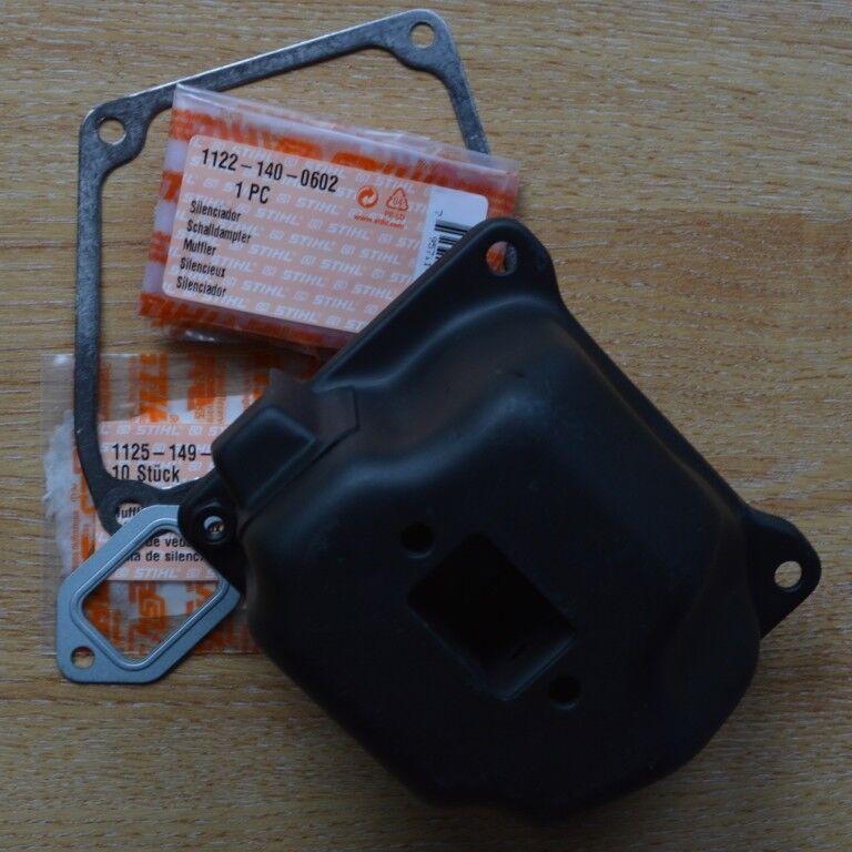 Genuine OEM Stihl MS660 066 De Escape Silenciador & Juntas 1122 140 0602 seguimiento post