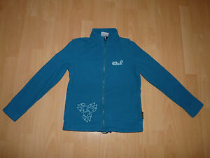91-Jack-Wolfskin-Girls-Sola-Jacket-Fleece-Jacke-Fleecejacke-Gr-152-baltic-blue