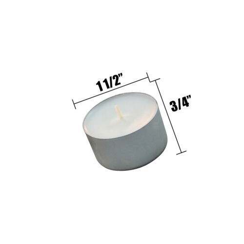 Long Burning Candle Tea Light Unscented Flaming Wax Up to 8 Hours 100 Pack White