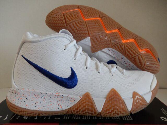 3b02f5f65a1b Nike Kyrie 4 Uncle Drew Mens 943806-100 White Royal Basketball Shoes Size 10