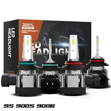 4x Combo 9005 9006 Led Headlight Kit High Low Beam Light Bulbs Csp White 6000k