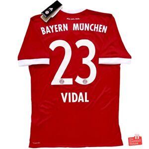 Authentic Adidas Bayern Munich 2017/18 Home Jersey - Vidal 23. BNWT, Size S.