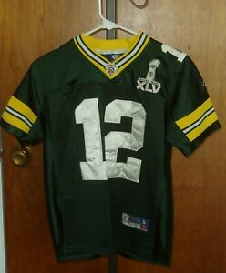 Details about Aaron Rodgers Green Bay Packers Super Bowl XLV Jersey / Youth / Small 10-12